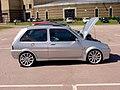 162 - Custom silver October 1990 Rover Metro 1.8 GTi, side.jpg