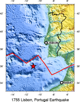 Lisbon Earthquake Wikipedia - Portugal map wikipedia