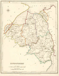 Map of County Londonderry, 1837.