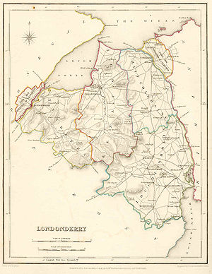 County Londonderry - Map of County Londonderry, 1837