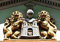 1861 circa geschaffenes Wappen der Stadt Hannover für die Brückmühle, 1950 oder später an das Wangenheim versetzt.jpg