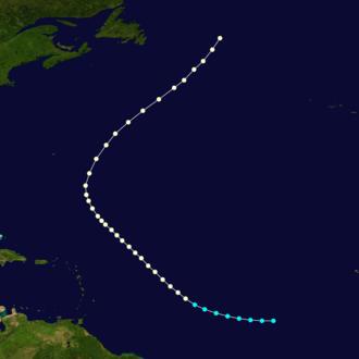 1875 Atlantic hurricane season - Image: 1875 Atlantic hurricane 2 track