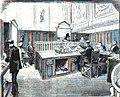 1876-09-30, La Ilustración Española y Americana, Establecimientos benéficos de Madrid (cropped) Monte de Piedad y caja de ahorros, Empeño de alhajas.jpg
