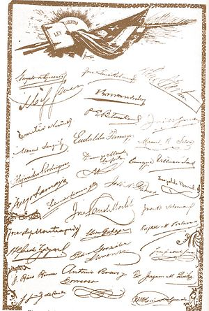 1901 Constitution of Cuba - Signatures of the signers of the Constitution of 1901
