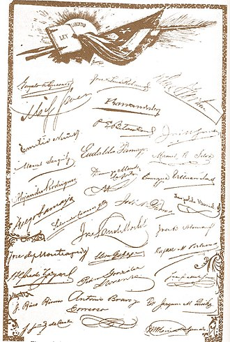 1901 Constitution of Cuba - Signatures of the signers of the Constitution of 1901.