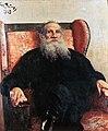 1909Портрет Толстого в красном кресле.JPG