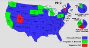 1912 Electoral Map
