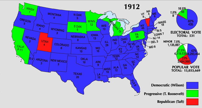 1912 United States presidential election - Wikipedia