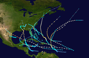 1916 Atlantic hurricane season - Image: 1916 Atlantic hurricane season summary map