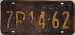 1942 New York license plate.JPG