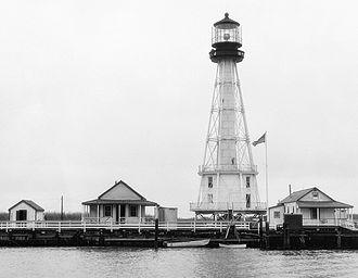 South Pass Light - South Pass Light, Port Eads, Louisiana, in 1945