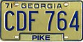 1971 Georgia license plate CDF 764.jpg