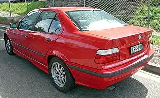 Car model - Image: 1996 1998 BMW 323i (E36) sedan 02