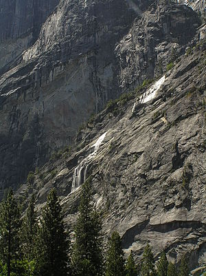 Ephemerality - Staircase Falls in Yosemite National Park only flows after heavy rainfall or snowmelt.