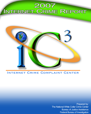 Internet Crime Complaint Center - Cover of 2007 Internet Crime Report