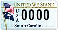 2008 South Carolina license plate United We Stand.jpg