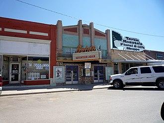 "Bottineau, North Dakota - Downtown Bottineau. The ""Botno"" theater name reflects the local pronunciation of Bottineau."