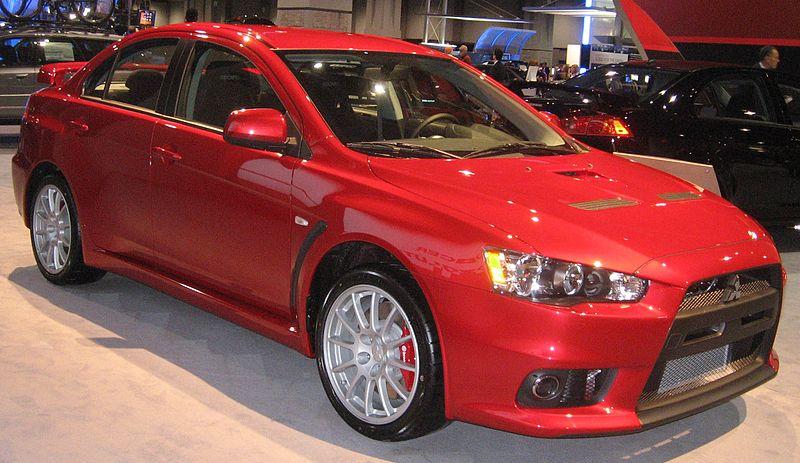 Ficheiro:2009 Mitsubishi Lancer Evolution.JPG