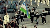 2010 Opening Ceremony - Uzbekistan entering cropped.jpg