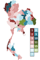 2011 Thai general election seat appropriation per region.png
