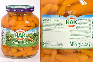 Jarred carrots