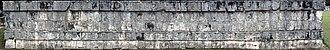 Tzompantli - Image: 2014 01 03 Tzompantli in Chichén Itzá anagoria