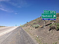 2014-06-11 12 12 32 Sign for Exit 373 along westbound Interstate 80 and northbound Alternate U.S. Route 93 at Pequop Summit, Nevada.JPG