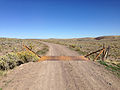 2014-09-25 10 52 05 View north along Rowland Road (Elko County Route 750) about 7.8 miles north of Gold Creek Road (Elko County Route 749) and Diamond A Road (Elko County Route 751) at the signed Nevada and Idaho border.JPG