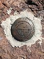 2014-10-19 12 01 34 United States Geological Survey Reference Mark Number 1 on the south summit of Mount Jefferson, Nevada.JPG