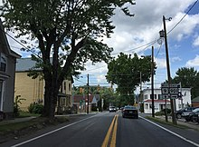 2016-08-25 14 32 02 View west along West Virginia State Route 9 (Hedgesville Road) between Zion Street and West Virginia State Route 901 (Mary Street) in Hedgesville, Berkeley County, West Virginia.jpg