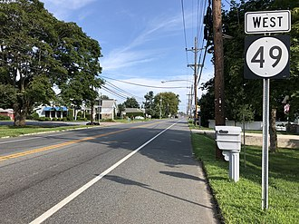 New Jersey Route 49 - Westbound Route 49 past CR 630 in Pennsville Township