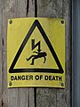 2018-08-26 Danger of death sign, Gimingham (2).JPG