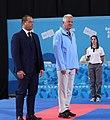 2018-10-18 Karate Boys' -68 kg at 2018 Summer Youth Olympics – Victory ceremony (Martin Rulsch) 04.jpg