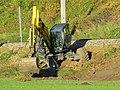 2018-10-30 (850) Walking excavator Menzi Muck M545 at Mariazellerbahn in Rabenstein an der Pielach, Austria.jpg