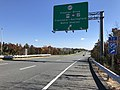 2018-10-30 12 31 47 View east along Virginia State Route 289 (Franconia-Springfield Parkway) at the exit for Virginia State Route 2677 (Frontier Drive, Franconia-Springfield Metro Station) in Springfield, Fairfax County, Virginia.jpg