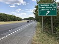 2019-10-02 14 15 19 View south along Maryland State Route 4 (Pennsylvania Avenue) at the exit for Marlboro Pike and Dower House Road (Andrews Air Force Base) in Westphalia, Prince George's County, Maryland.jpg