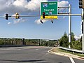 2020-08-04 18 13 44 View east along Maryland State Route 7 (Philadelphia Road) at the exit for Interstate 695 NORTH (Towson, TO Interstate 95) in Rosedale, Baltimore County, Maryland.jpg