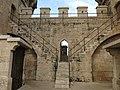 202 Torres de Quart (València), replà del primer pis, merlets i escales.jpg