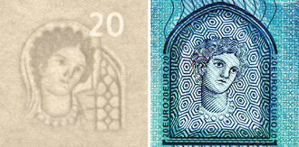 Face of Europa on the new 20 euro banknote (ES2). 20 euro 6.png