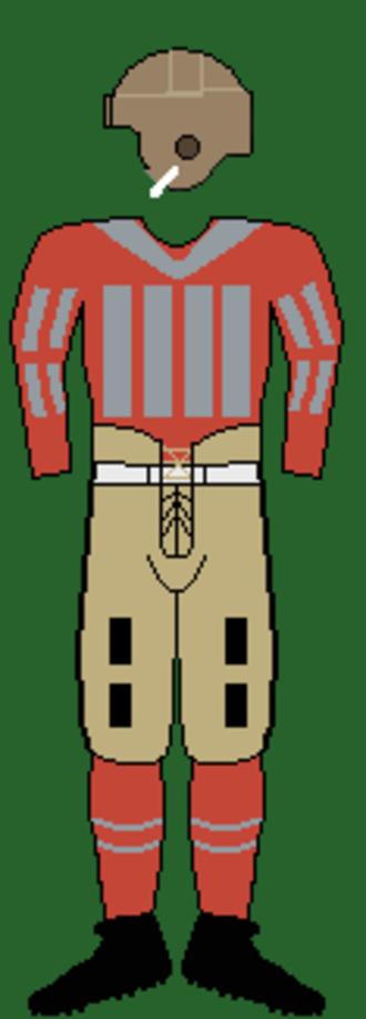 1928 Ohio State Buckeyes football team - Image: 20sohiostuniform