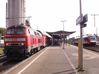Lübeck–Hamburg railway - Lübeck–Hamburg Regional-Express in Bad Oldesloe station