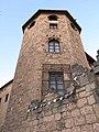 253 Monestir de Sant Cugat, torre del palau abacial, pl. Octavià.JPG