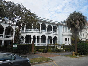 Col. John A.S. Ashe House - The Col. John A.S. Ashe House at 26 South Battery, Charleston, South Carolina
