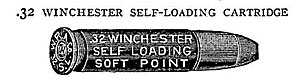 .32 Winchester Self-Loading - Image: 32 Winchester Self Loading