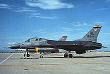 Photo of a modern fighter aircraft parked on tarmac