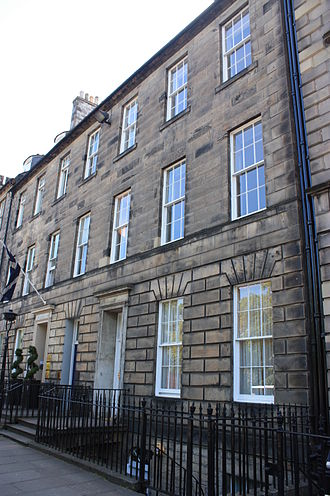 Charles Neaves, Lord Neaves - Lord Neaves townhouse at 47 Queen Street, Edinburgh