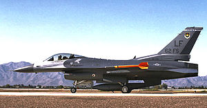62d Fighter Squadron - F-16 Fighting Falcon of the 62d Fighter Squadron ready for takeoff at Luke AFB
