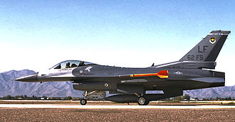 56th Operations Group - F-16 of the 62d Fighter Squadron ready for takeoff at Luke