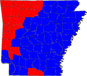 Arkansas gubernatorial election, 1982 - Image: 82ARGov Counties