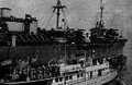 "86th division troops arriving at New York are met by the ""Welcome Home"" boat.png"